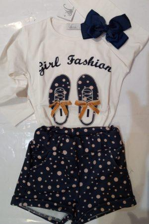 Conjunto Niña Chanclas Girl Fashion Marino
